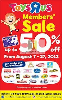 Toys R Us Members' Sale 2012