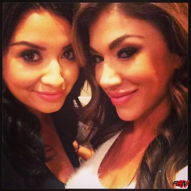 Rosa Mendes Chillin With Her Cute Friend.