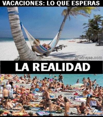 lo que en realidad es en vacaciones