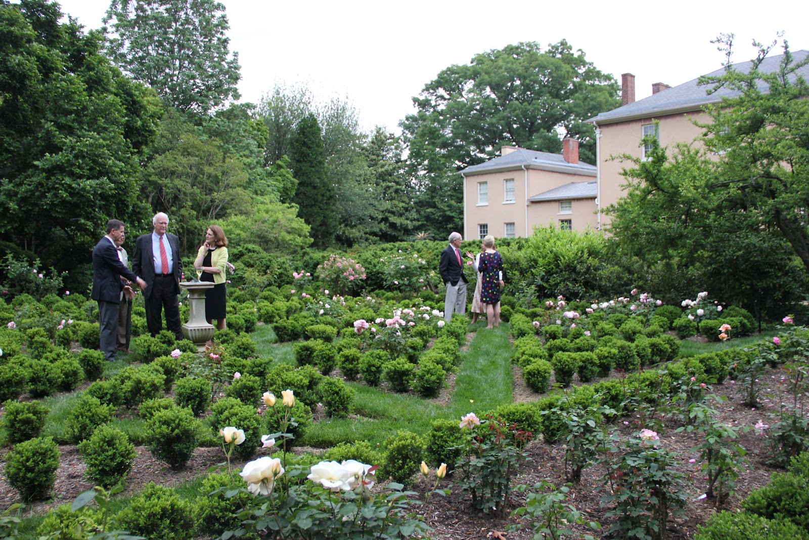 Ribbons Roses And Wine In The Garden Box Knot Rededicated Tudor Place Historic House And Garden