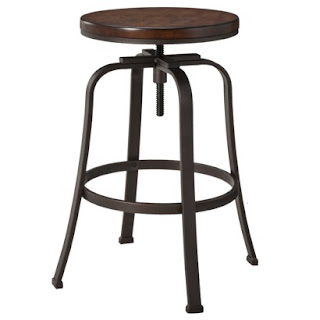 industrial style Dakota swivel stool from Target