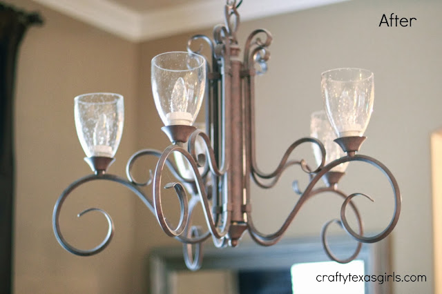 Crafty Texas Girls Chandelier MakeOver for $35 No