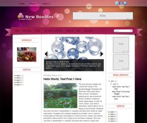 New Boubles Blogger Template