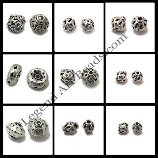 Handmade sterling silver filigree beads