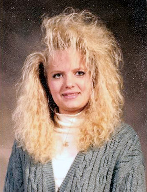 senior portrait, 80s, big hair