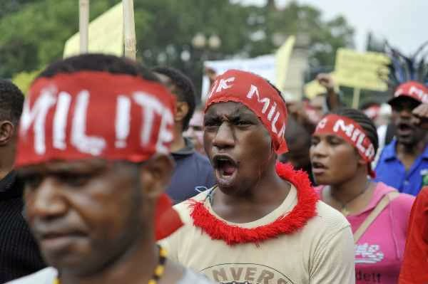 Polres Biak Bubarkan Orasi West Papua National Authority (WPNA)