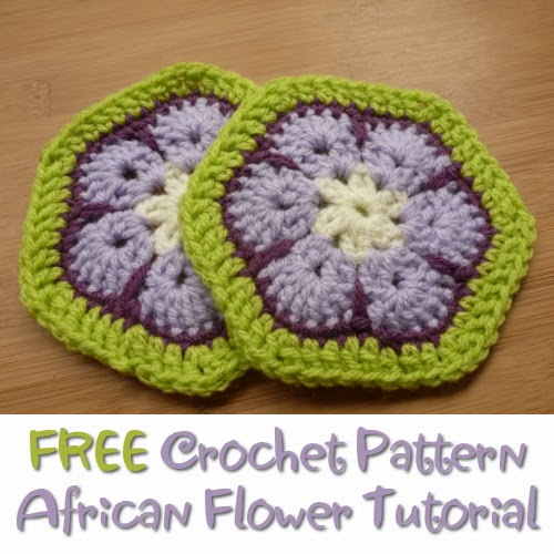 CraftyMarie: Free Crochet Pattern African Flower Tutorial