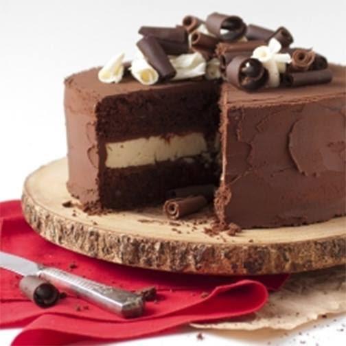 FUN RECIPE WORLD : Death By Chocolate Cheesecake Cake