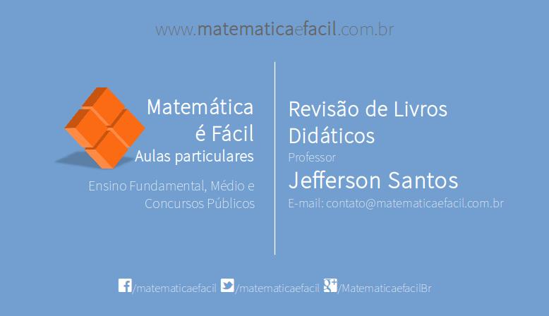 Portfólio: Matemática é Fácil! - Aulas Particulares