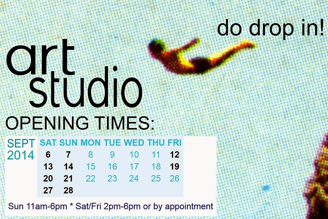 Studio open times during Sept