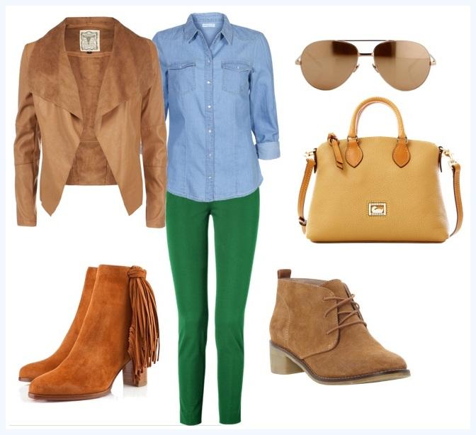 Desde el vestidor c mo combinar un jean de color - Combinar color marron ...