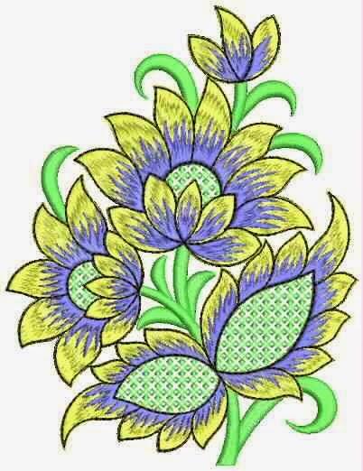 borduurwerk floss styl appliekwerk