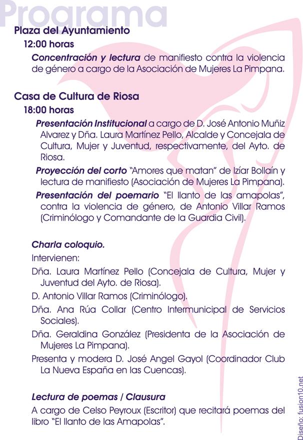 Día Internacional de la Violencia de Género en Riosa