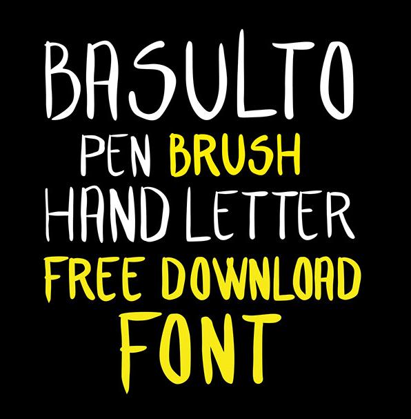 Font Terbaru Untuk Desain Grafis - Hand Letter Free Font