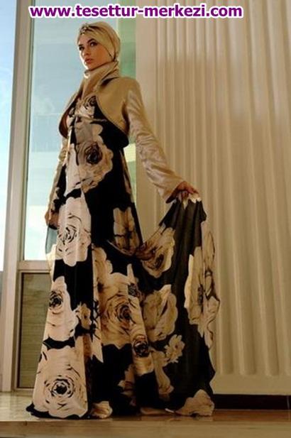 2013 İlkbahar Yaz Tesettür Abiye Modelleri
