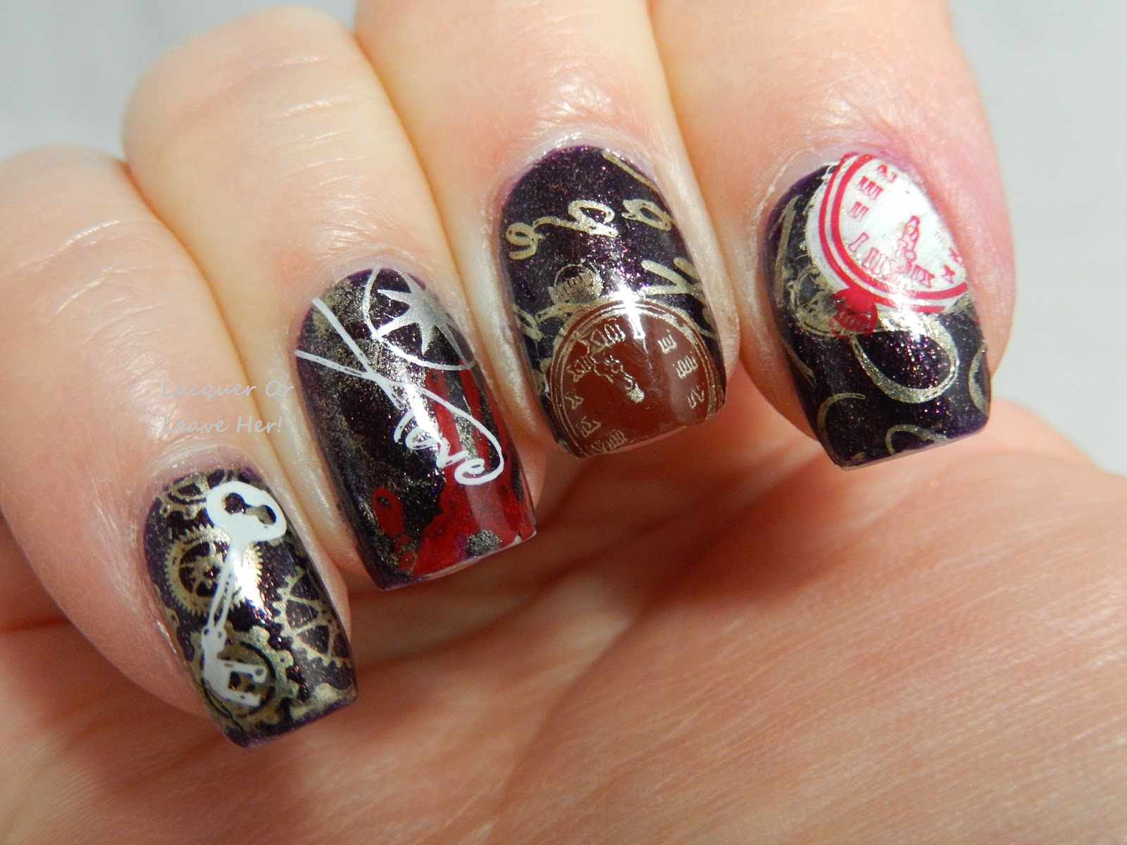 The Time Traveler's Wife manicure somewhat improved