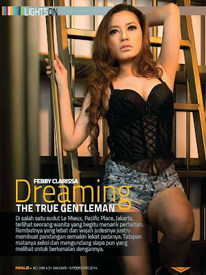 Febby Clarissa Male  Magazine Photoshoot January/February 2014