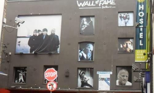 Muro de la fama en Dublín, Irlanda