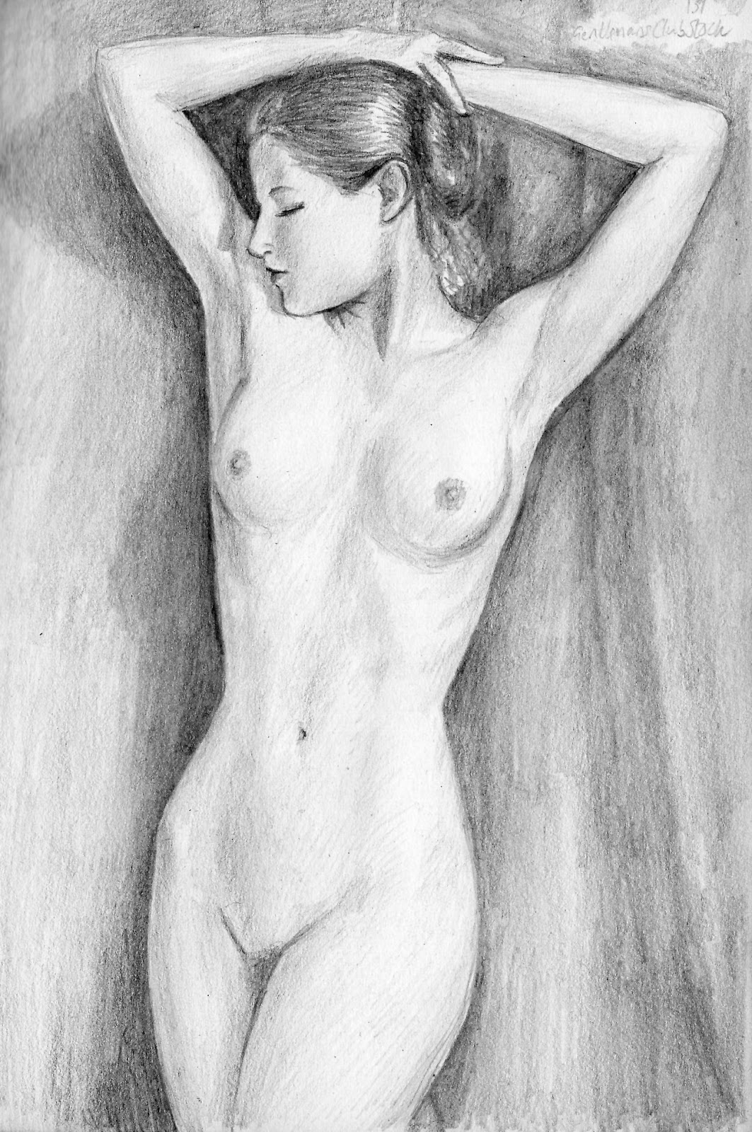 Pencil sketch of nude girls naked photos
