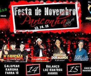 Confira a programação oficial da tradicional Festa de Novembro em Pariconha