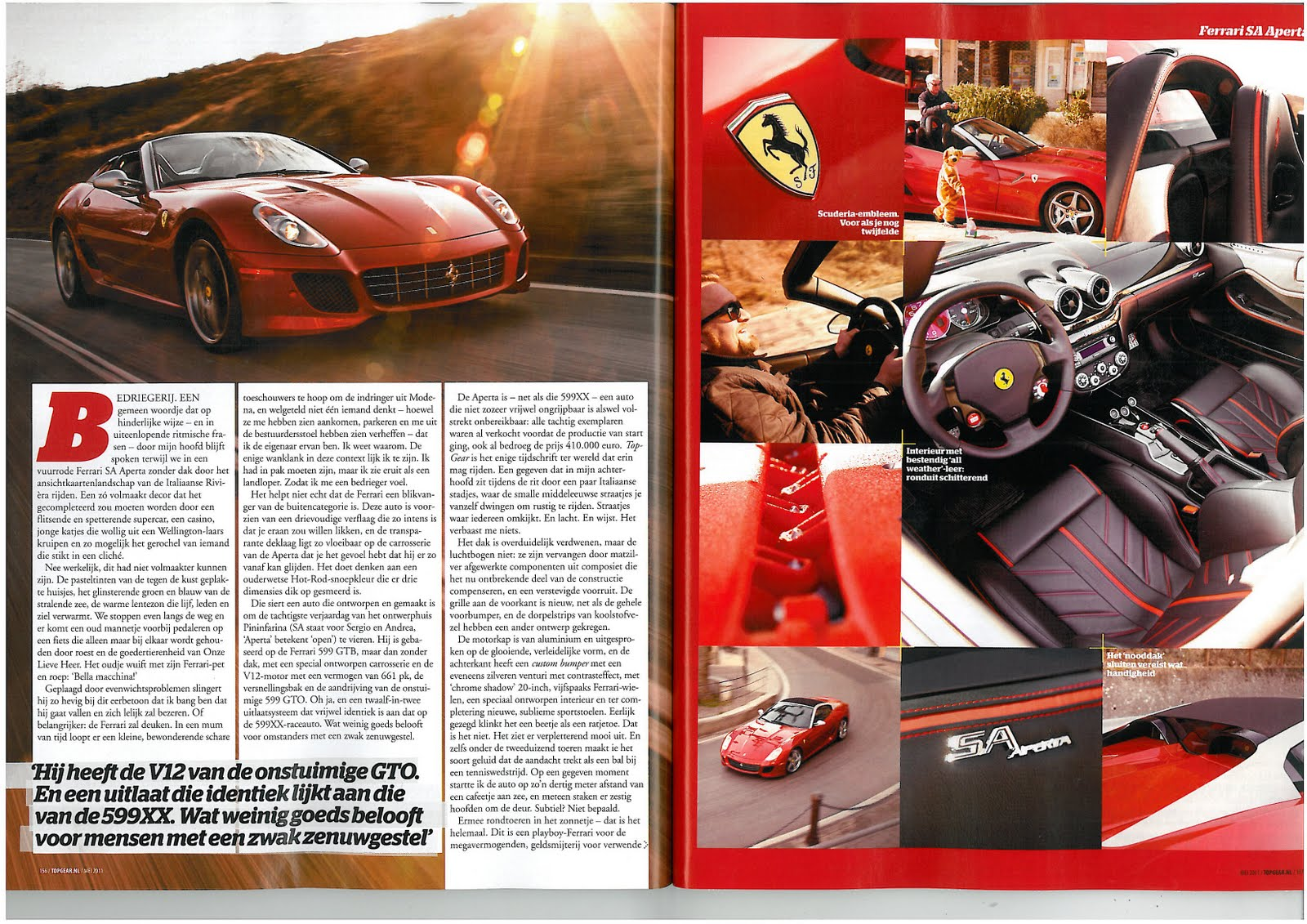 fga media ferrari sa aperta in top gear magazine. Black Bedroom Furniture Sets. Home Design Ideas