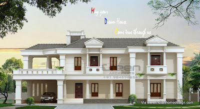 . Great kerala bungalow elevation plan for 3425 Sq ft house | Home