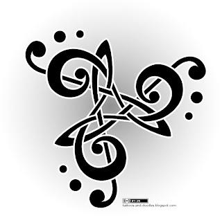 tattoos and doodles music triskele treble clef. Black Bedroom Furniture Sets. Home Design Ideas
