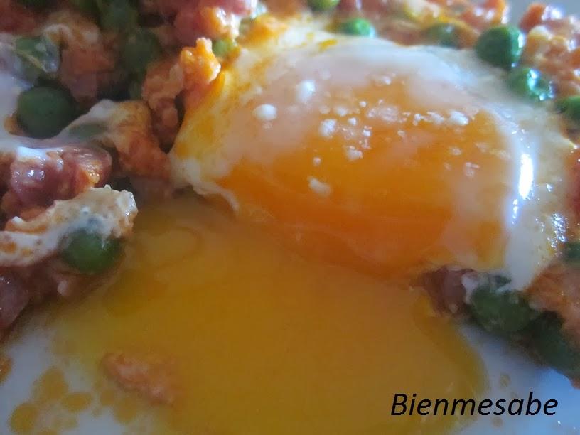 Huevos rápidos con jamón 01