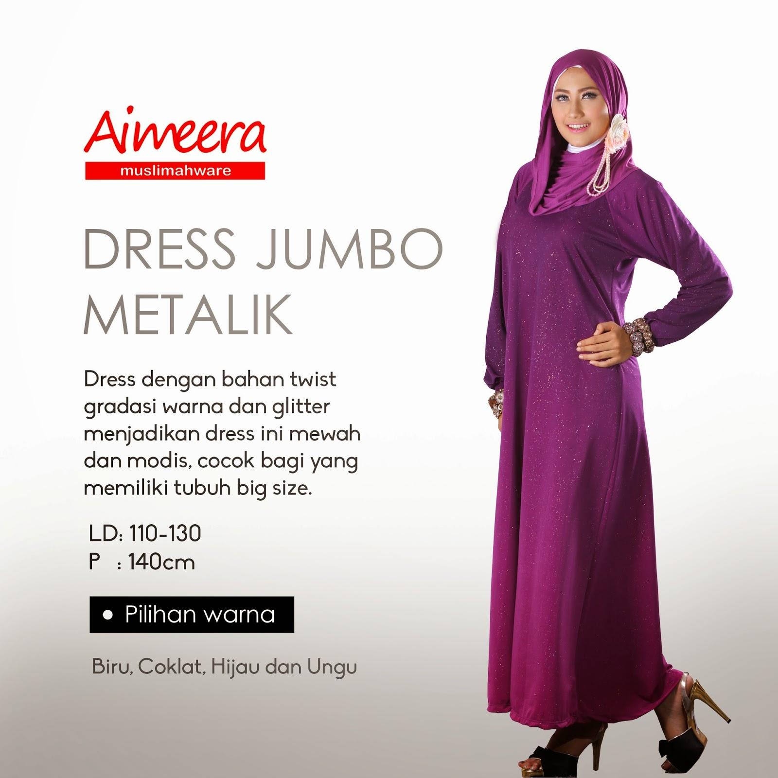 Dress Jumbo Metalik