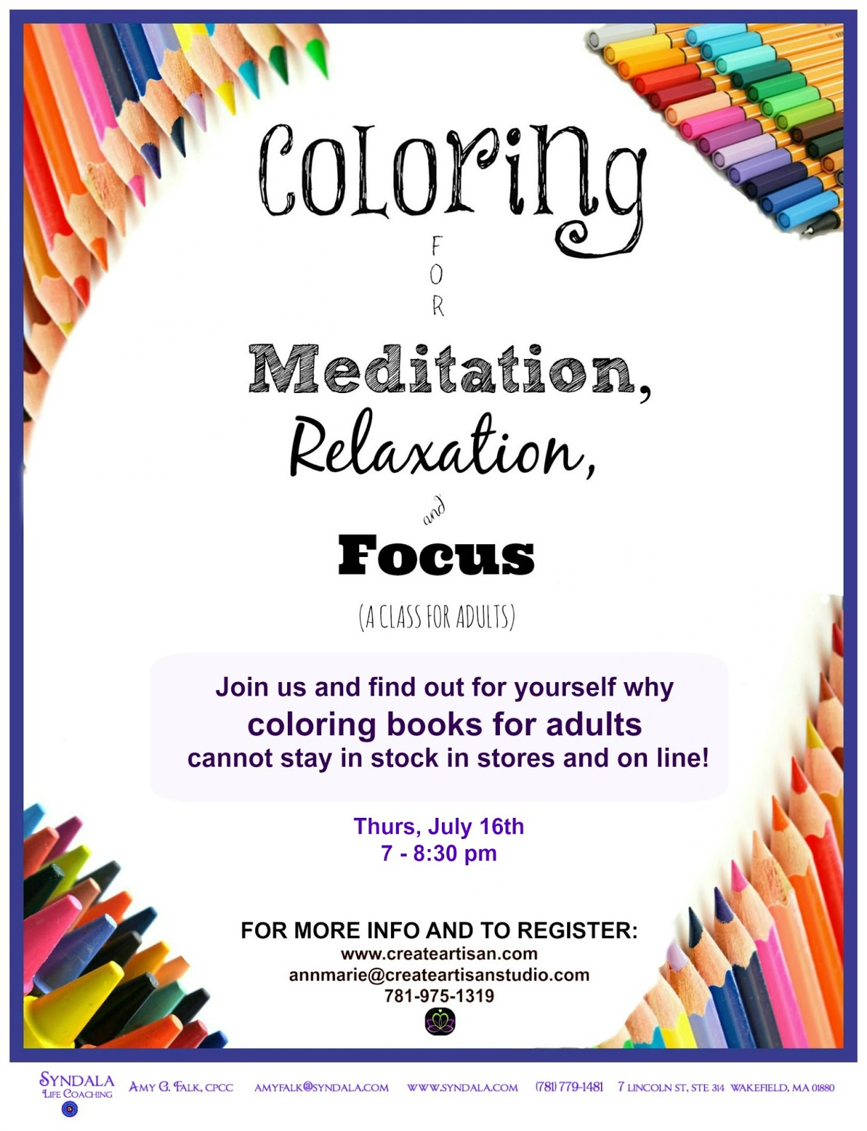 Syndala Life Coaching: COLORING AS MEDITATION?