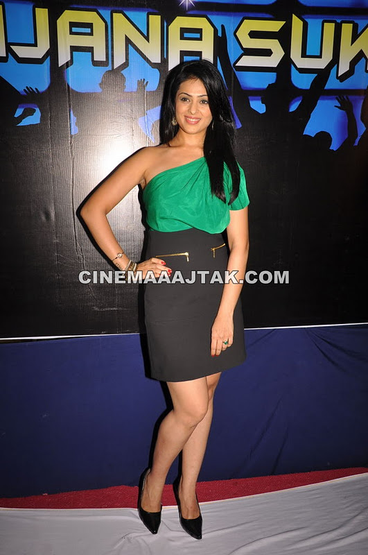 Anjana Sukhani in Green Top1 - Anjana Sukhani Looking Hot in Green Top Black Skirt at Event