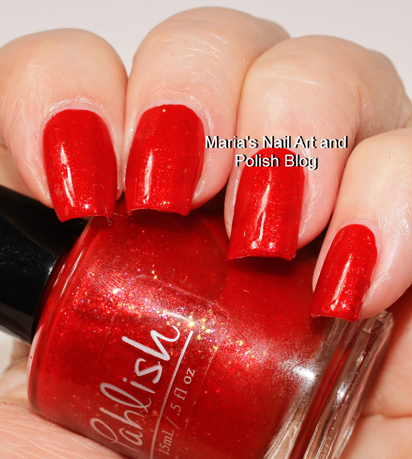 Marias Nail Art And Polish Blog Flushed With Stripes And: Marias Nail Art And Polish Blog: Pahlish Litlte Red Light