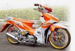 modifikasi motor honda revo absolute road race