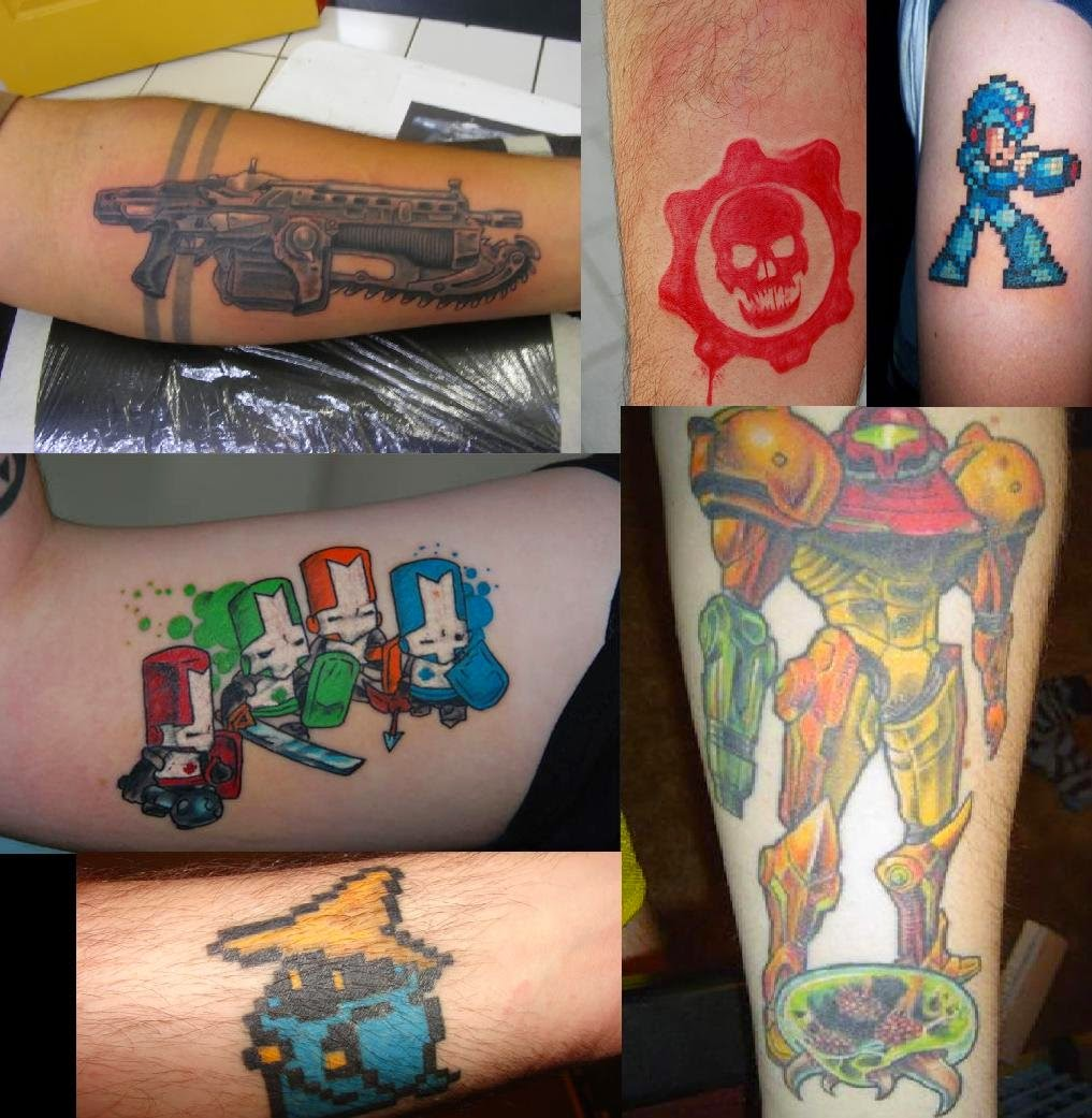 The world of tattooing gaming tattoos for The game tattoos