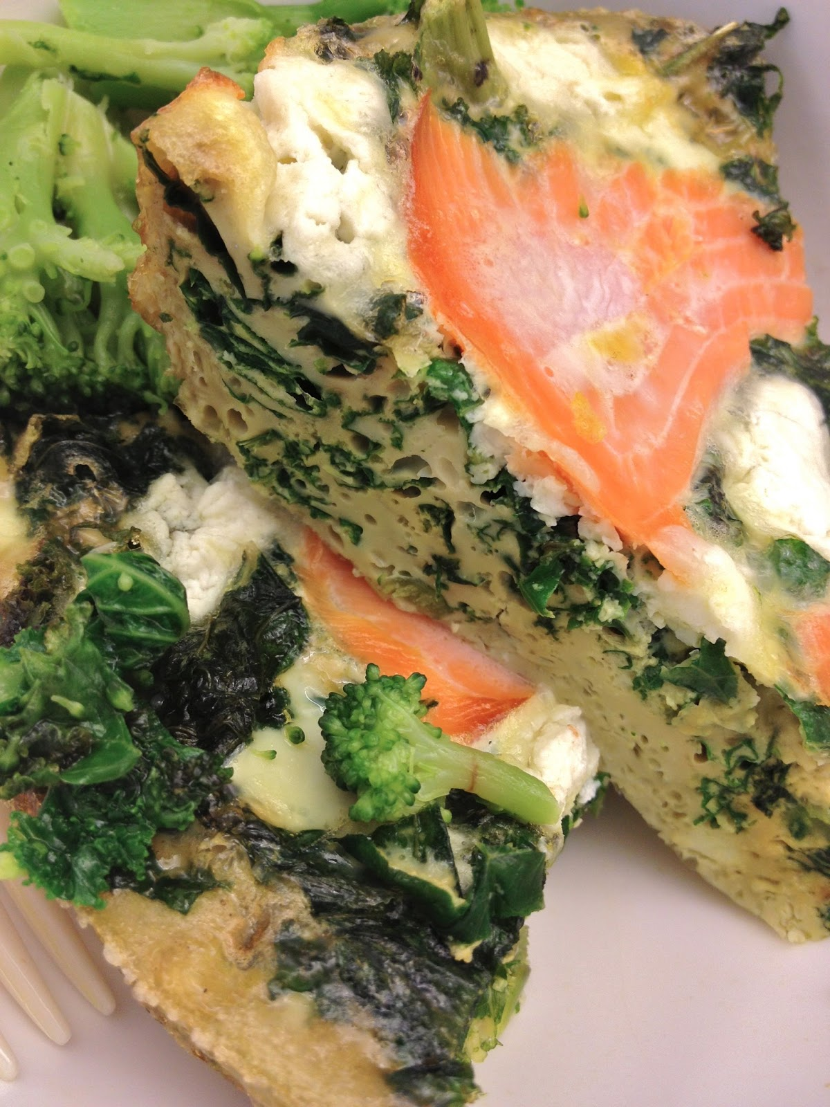 Bad Girl Eats: Smoked Salmon, Kale, and Goat Cheese Frittata