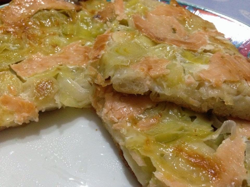 pizza salmone e porri