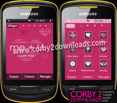 Samsung Corby 2 Theme: Me And You | Corby 2 Downloads
