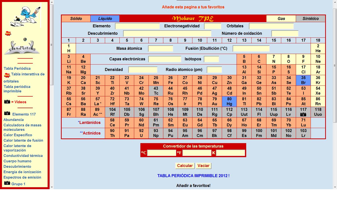 Tabla periodica interactiva para imprimir images tabla periodica interactiva para imprimir tabla peridica para los tabla peridica para los source abuse report urtaz Gallery