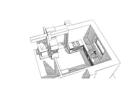 Architekt Rzeszów. Dom jednorodzinny, wizualizacja kuchni.