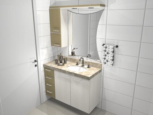 Gabinete Para Banheiro Banheiro em marmore travertino -> Gabinete De Banheiro Travertino