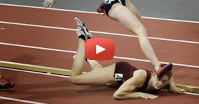 This Runner Had A Paintful Fall. Then She Stunned The Entire Crowd By Doing This!