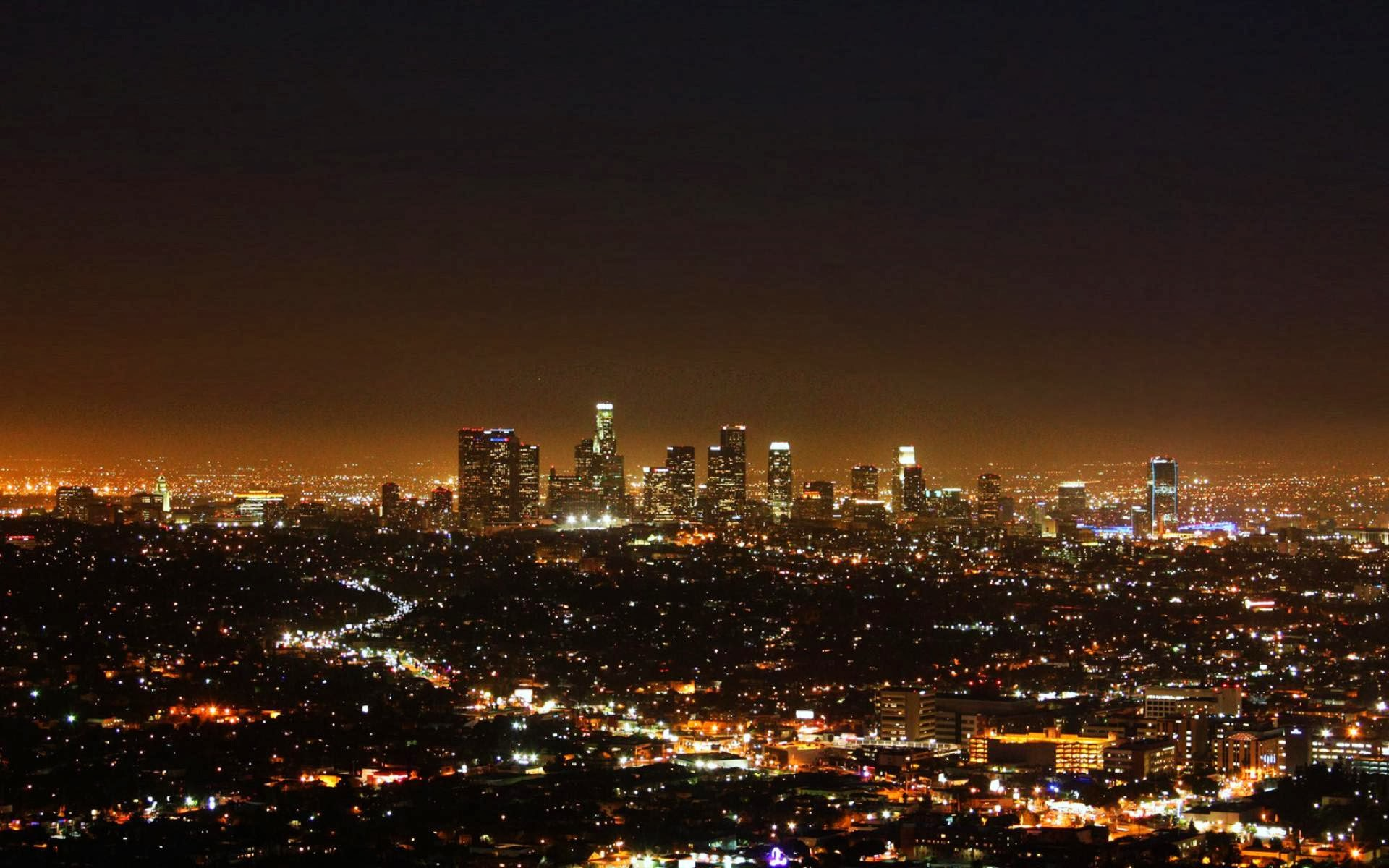 los angeles city nights full hd desktop wallpapers 1080p