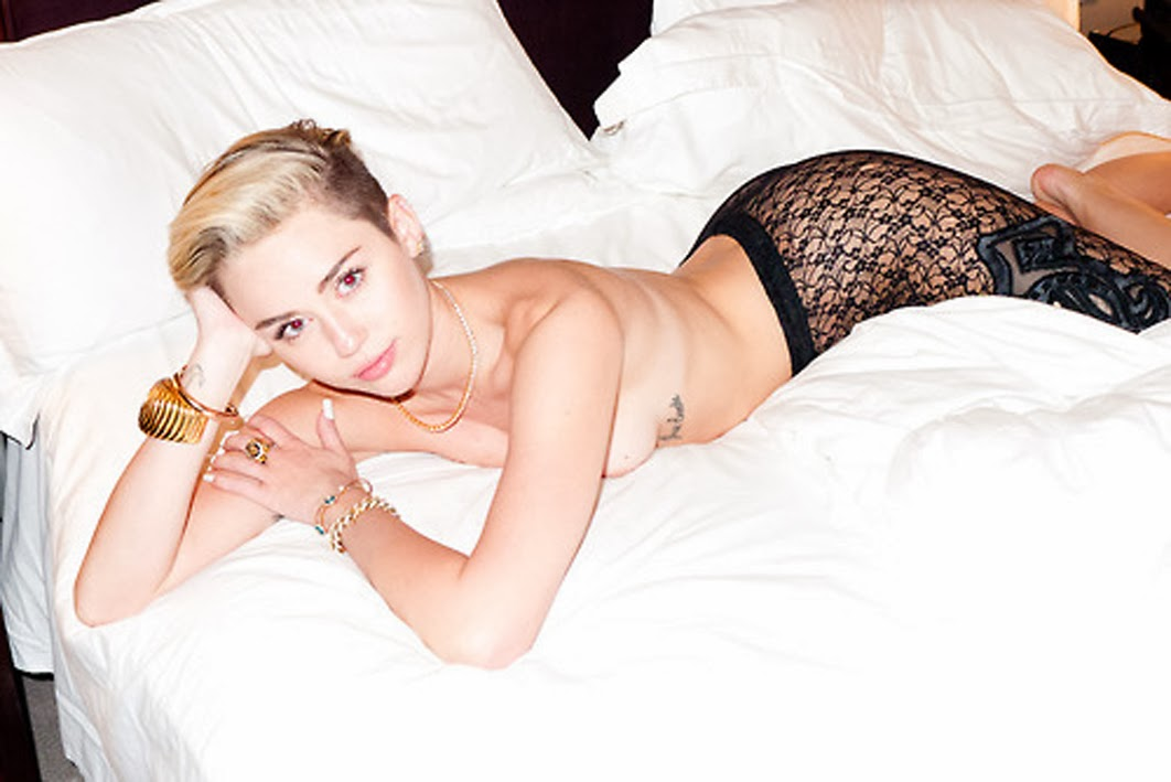 Miley Cyrus in her most controversial photoshoot with Terry Richardson