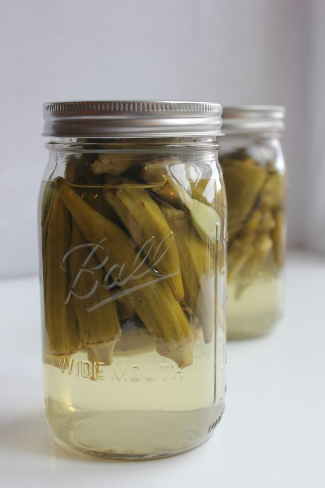 Easy Pickled Okra, Pickled Okra Recipe, Pickling Okra, Blue Jean ...