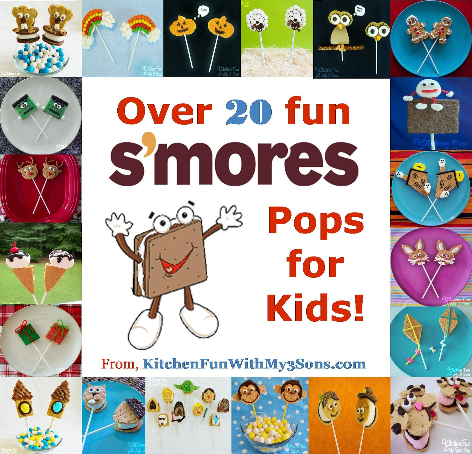 20+ of our S\'mores Pops...Happy National S\'mores Day!! - Kitchen Fun ...