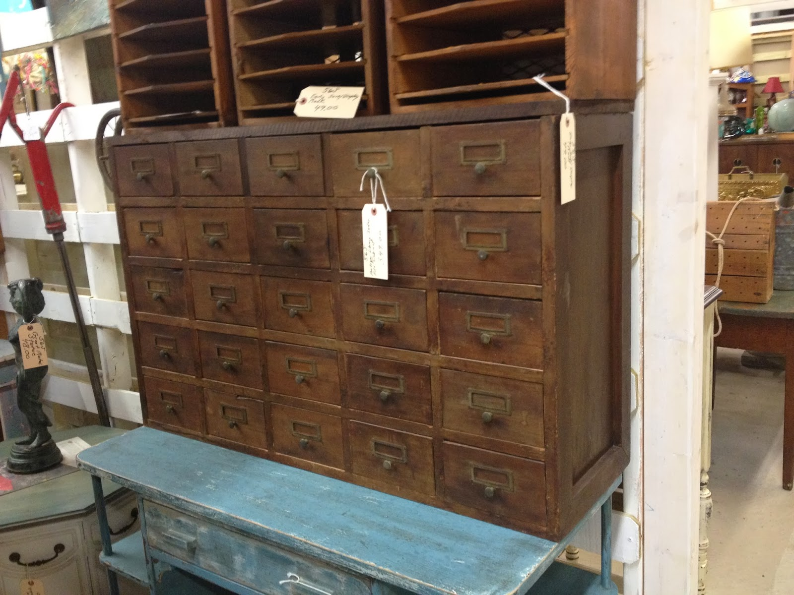 wood card catalog