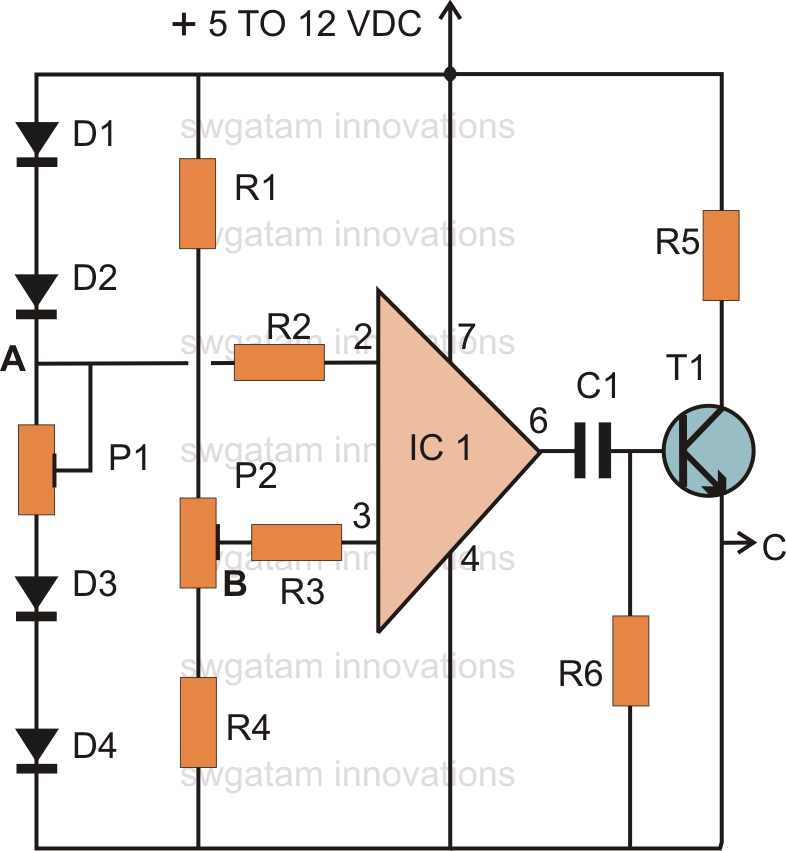 Make this thermo touch operated switch circuit using ic for Home 741 741