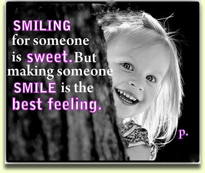 Smiling for someone is sweet. But making smile is the best feeling.