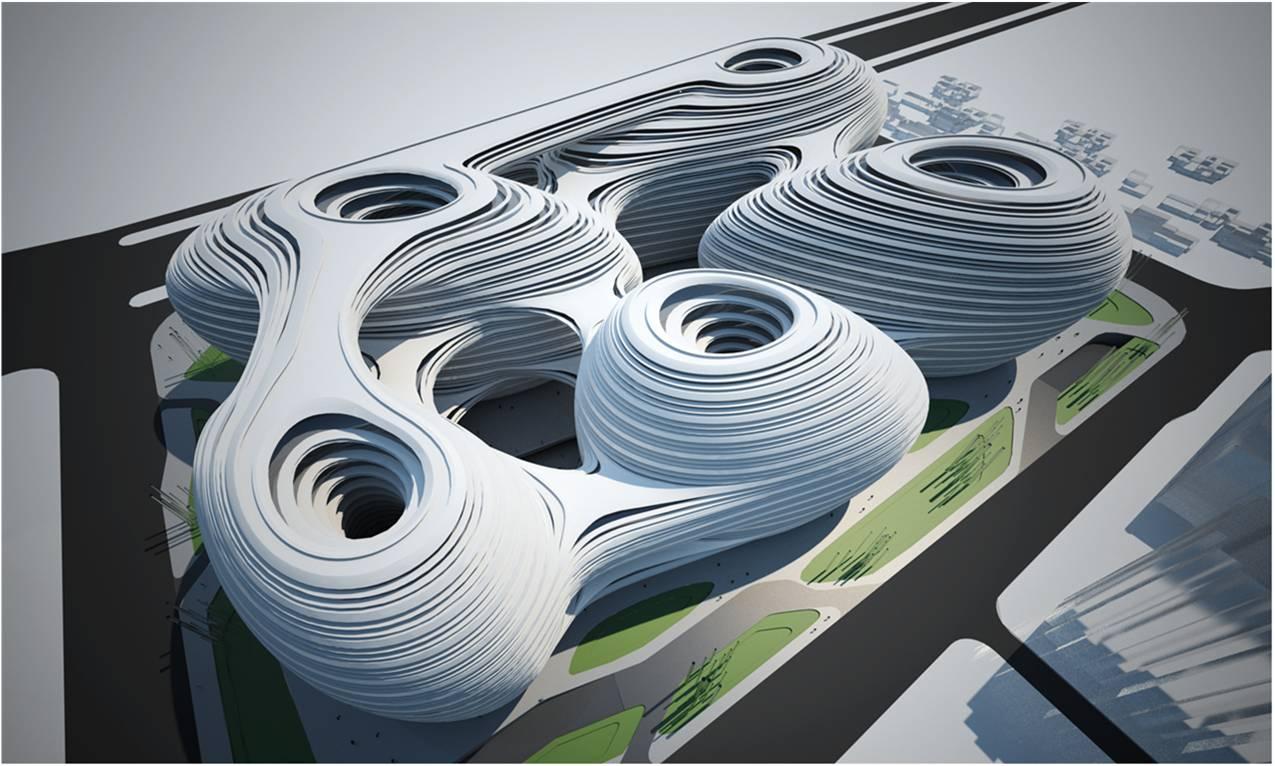 Newsgallery Galaxy Soho By Zaha Hadid Architects