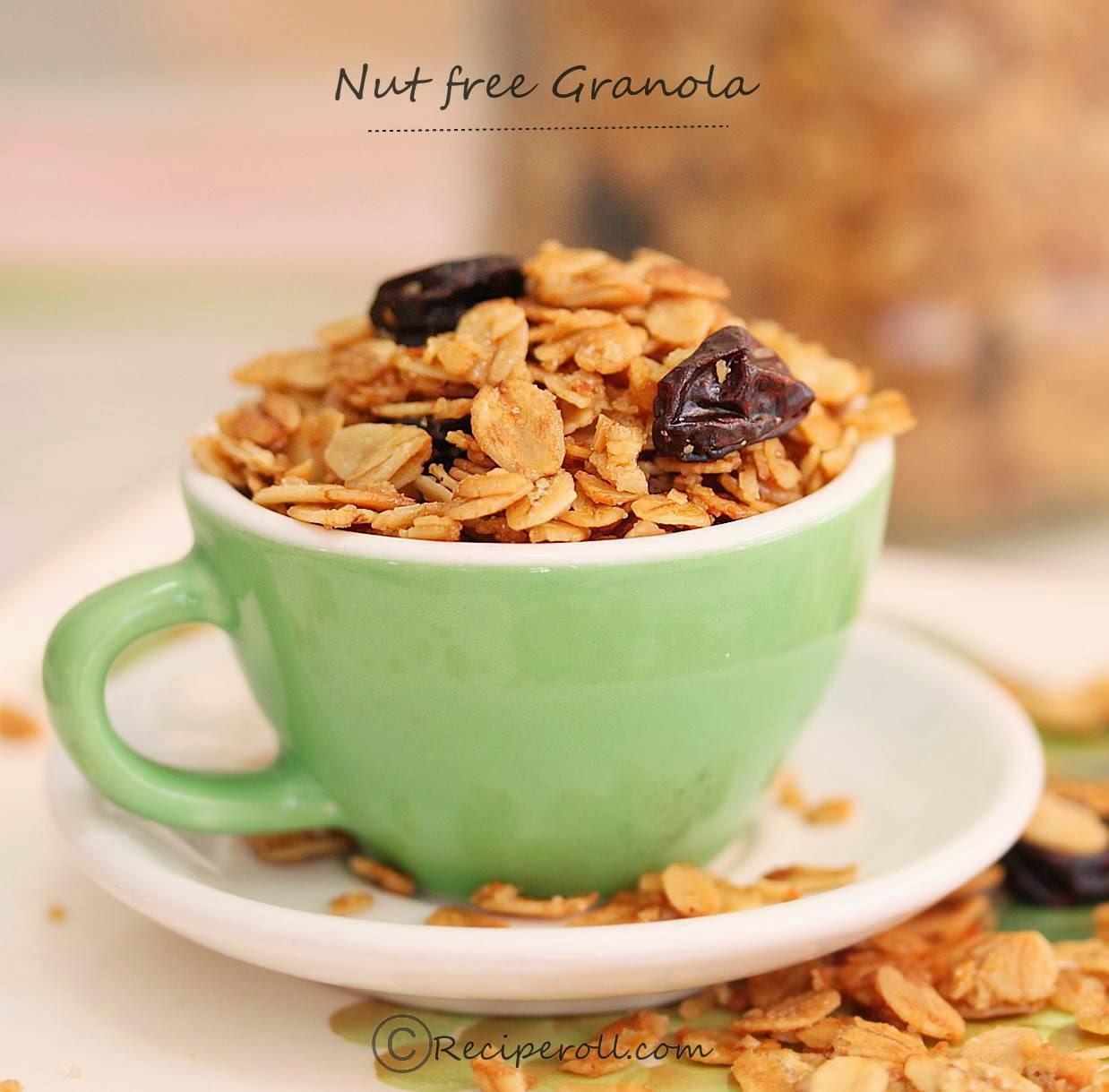 nut free granola | plain granola recipe